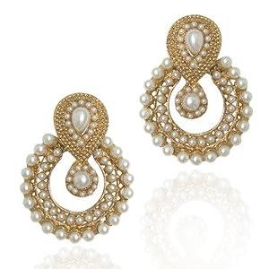 Mirraw B332 Pearl Indian Earring