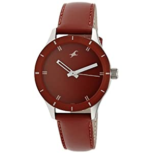 Fast track monochrome analog Red dial women's watch