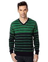 Allen Solly Vibrant Striped Sweater