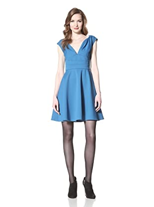 Z Spoke Zac Posen Women's V-Neck Dress (Resort Aqua)