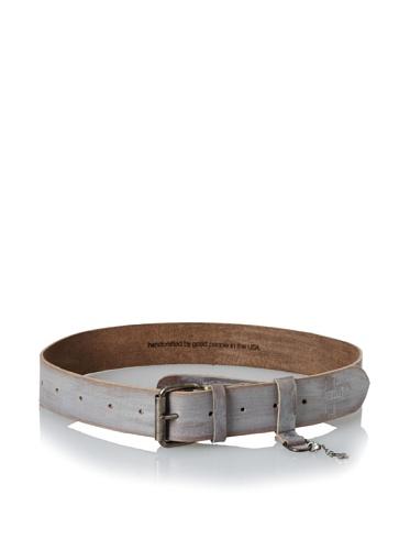 +Beryll Men's Vintage Wide Belt (Bone/Silver)