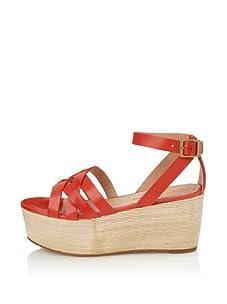 Pour La Victoire Women's Noletta Platform Sandal (Red)