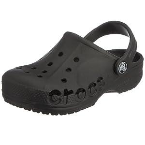 Crocs Kids Unisex Baya Black Rubber Clogs and Mules - C6C7