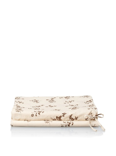 Kerry Cassill Fitted Sheet (Khaki Floral)