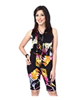ENAH jaunty abstract print bow-tie jumpsuit