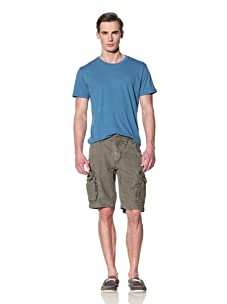 Tailor Vintage Men's Linen Cargo Short (Army)