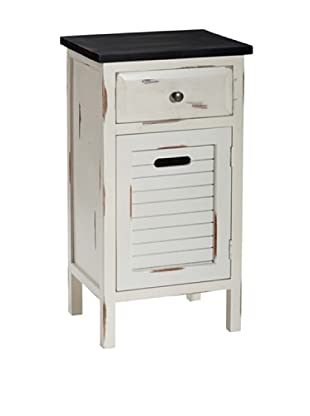 Gallerie Décor Shoreham 1-Drawer & 1-Door Accent Cabinet, Cream
