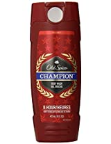 Old Spice Body Wash - Champion - With 8 Hour Scent Technology - Net Wt. 16 FL OZ (473 mL) Each - Pack of 2