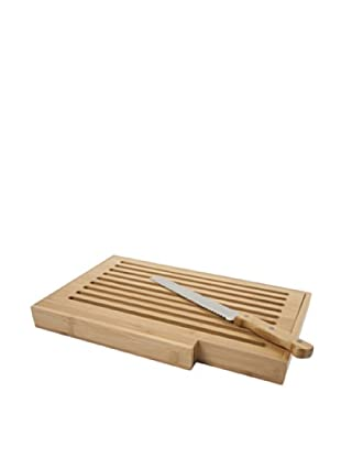 Core Bamboo Bread Board with Bread Knife (Natural)