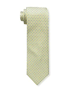 Bruno Piattelli Men's Microneat Silk Tie, Gold
