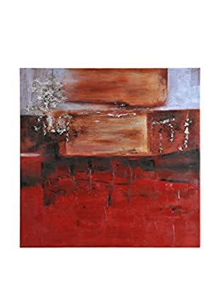 Surya Red and Blood Orange Abstract Wall Décor, Multi, 40