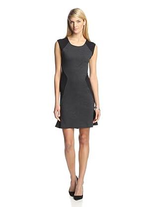 Twenty Tees Women's Sleeveless Dress with Scoop Back (Heather Charcoal/Black)