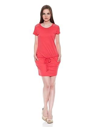 Carrera Jeans Vestido Righe (Rojo)