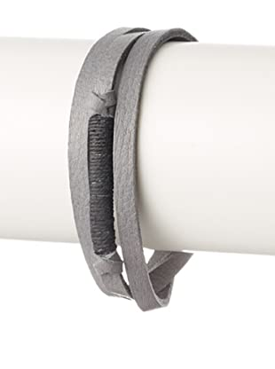 Griffin Grey Legend Leather Triple Wrap Bracelet