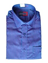 Peter England Men Shirts(Blue Stripe)