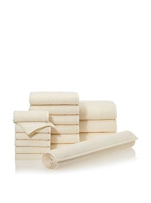 Chortex Honeycomb 16-Piece Bath Towel Set (Almond)