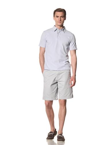 Report Collection Men's Pique Polo Shirt (Light Blue)