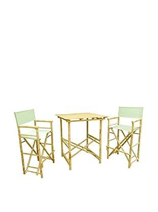 ZEW, Inc. High Table & Director Chair Set, Celadon