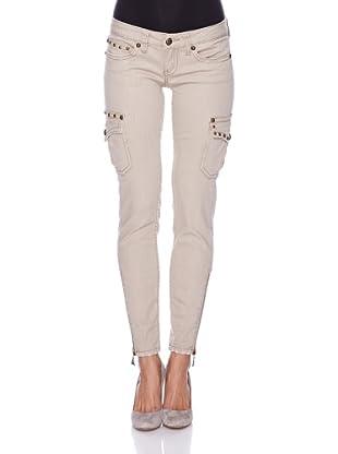 Antique Rivet Jeans Bailey (Beige)