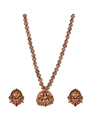 Jeweleteria Jade Stones Gold Plated Metal Alloy Necklace Set For Women - B00MGRG3PQ