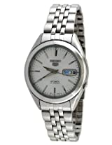 Seiko Men's SNKL15 Stainless Steel Analog with Silver Dial Watch