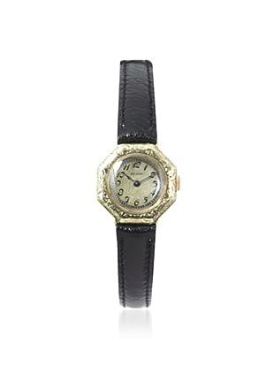Elgin Women's Leather 14K Yellow Gold Watch (Yellow Gold)