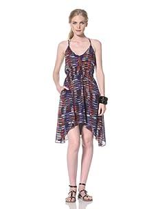 Dolce Vita Women's Summer Tank Dress with Asymmetrical Hem (Multi)
