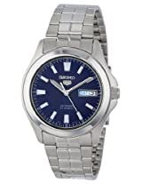 Seiko Men's SNKL07 Seiko 5 Automatic Black Dial Stainless-Steel Bracelet Watch