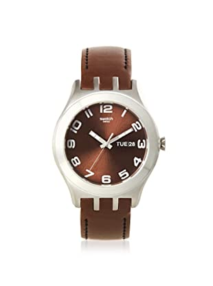 Swatch Men's YTS713 Brown Leather Watch