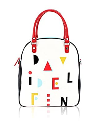 davidelfin Bolso asa de mano Name Game Bag Blanco