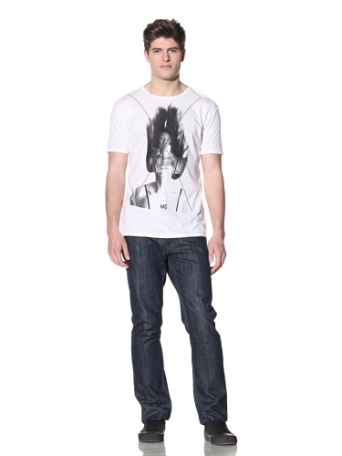 MG Black Label Men's Traces Graphic Tee (White)