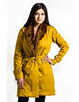 Fbbic Women's Coat (15003_Small_Yellow)