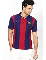 Blue Fc Barcelona Polo T Shirt