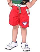 OKS Junior Red Cotton Printed Capri For Boys | OKJ523RED