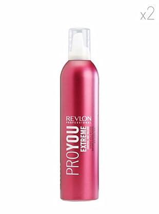 Revlon  Set 2 Pro You Mousse Fijación Extreme Forte 400 ml