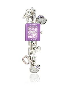 Hello Kitty Silver/Purple Stainless Steel Watch