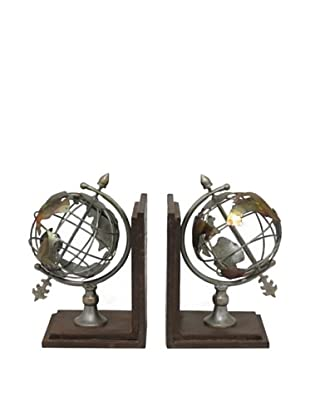 Three Hands Globe Bookends