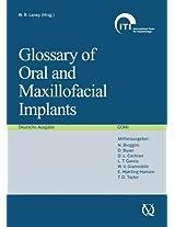 Glossary of Oral and Maxillofacial Implants