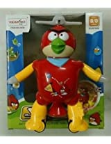 Dancing Angry Bird Robot Flashing Lights Music Rotating Step Movements