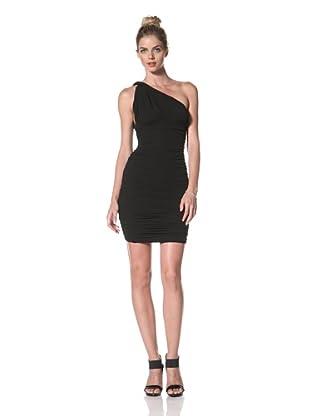 Norma Kamali Women's Shirred One-Shoulder Dress (Black)