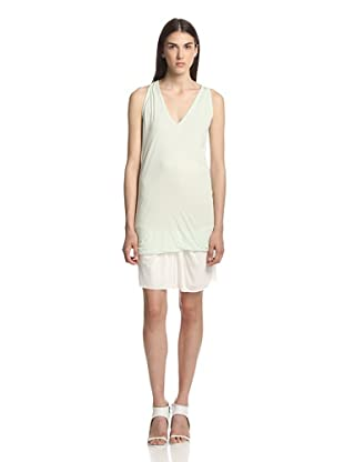 Rick Owens Lilies Women's V-Neck Tunic Top (Mint)