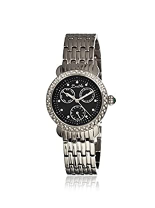Bertha Women's BR1202 Daniella Silver/Black Stainless Steel Watch