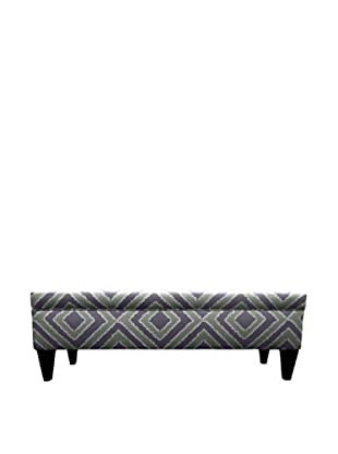 Sole Designs Brooke 10 Button Tufted Storage Bench, Nouveau Amethyst