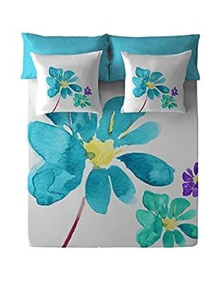 COSTURA Betttuch und Kissenbezug Blue Blossom