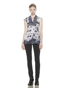 Catherine Malandrino Women's Cutout Tunic (Cloud Marble)