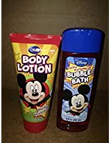 Disney Mickey Bathing & Skin Care (Bubble Bath & Body Lotion)