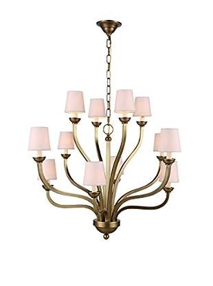 Urban Lights Vineland 12-Light Pendant Lamp, Burnished Brass