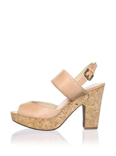Adrienne Vittadini Women's Yancy Platform Sandal (Natural)