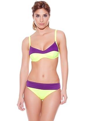 Teleno Bikini Reductor Copa C (Amarillo)