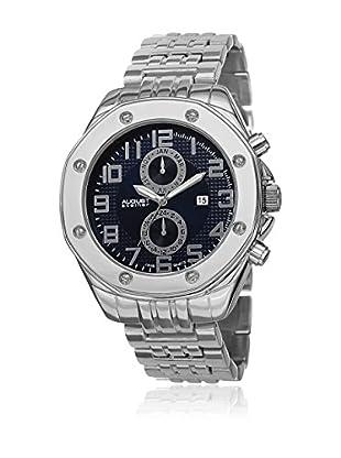 August Steiner Reloj 48 mm AS8140BU (Plateado / Azul)